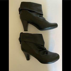 Madden girl black heeled booties
